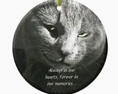 Pet Memorial Ornament,Custom Pet Ornament,Pet Loss,Loss of a Pet,dog,cat,grieving,condolences,pet loss ornament,your pet photo ornament