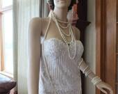 Flapper Nirvana wedding dress lace strapless flapper wedding dress alternative dress