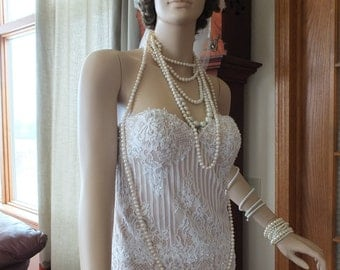 SALE price Flapper Nirvana wedding dress lace strapless flapper wedding dress alternative dress
