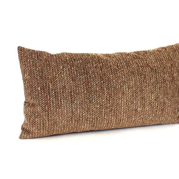 Brown Chenille Throw Pillows : Lumbar Pillow Cover 12x16 Brown Chenille Textured by couchdwellers