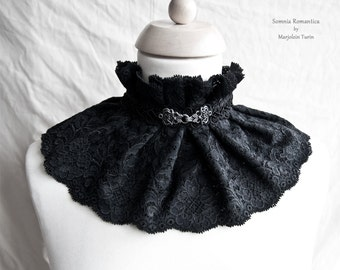 Collar lace, Victorian, romantic goth, Steampunk noir, Tudor, Somnia Romantica, size small - medium see item details for measurements