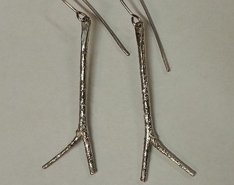 Birch twig sterling earrings by AnOtherRing ready to ship
