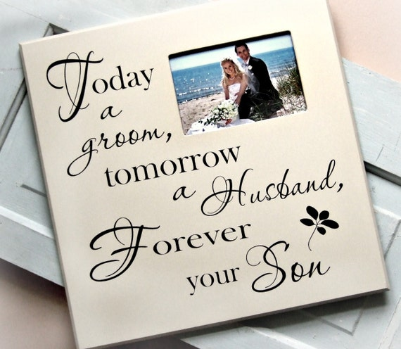 Wedding Gift For Parents Etsy : ... Gift for Parents/Wedding Picture Frame/Today a Groom Photo Frame Gift