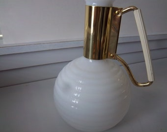 Mid Century Milk Glass Carafe