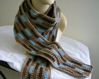 Long Crochet Crocheted Scarf Winter Scarf Stylish Warm Winter Scarf for Ladies or Men