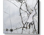 """14.00"""" x 11.75"""" Shattered Glass printed on a Sheet of Acrylic, Broken, Fine Art Photography by Glennis SIverson"""