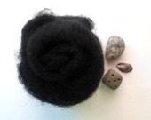10g (0.36oz) black color needle felting  wool