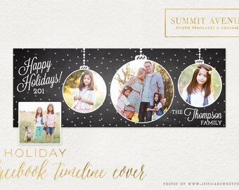 Holiday Facebook Timeline Cover design - Photography Mini Session or Client versions