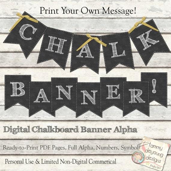 Chalkboard Banners Free