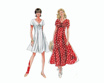 Sweetheart neckline dress sewing pattern Sizes 8 10 12 14 16 18 UNCUT sewing pattern It's so Easy long maxi short Simplicity 9586