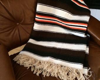 Vintage Serape Eagle Blanket