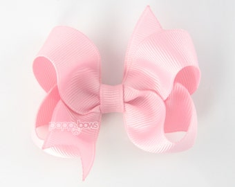 """Light Pink Hair Bow/ girls hair bows/ toddler hair bows/ 3 inch bows/ 3"""" hair bows/ toddler/ baby hair bow/ non slip/ boutique bow"""