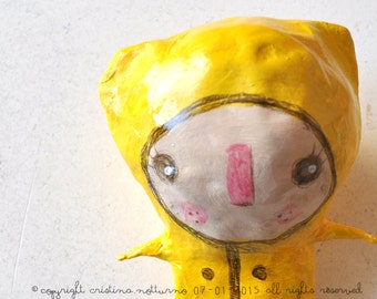 Bambola Cartapesta Pezzo Unico