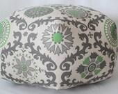 """24"""" Ottoman Pouf Floor Pillow Rosa Organic Green"""