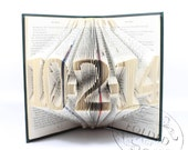 CUSTOM Date Folded Book Decoration