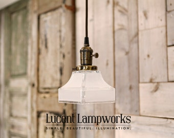Handmade Lighting with Square Edged Frosted Glass Shade