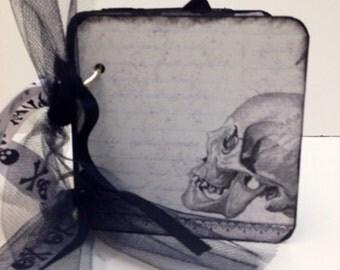 Halloween scrapbook brag book premade pages coaster album