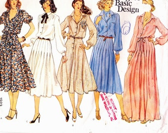 Vogue 1923 Five Styles Misses Loose Fitting Dresses  With Belt or Sash Size 18 Uncut Sewing Pattern