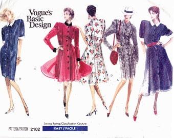 Vogue 2102 Vintage Dresses Princess Misses Petitie Easter Sizes 12-14-16 Uncut Sewing Pattern