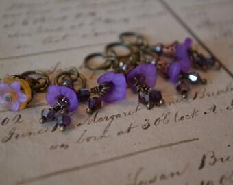 Purple Art Nouveau Plus One Stitch Markers