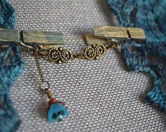 Steampunk Art Nouveau Shawl Clasp/Clip