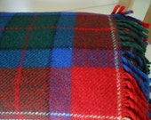 Wool Blanket MATERMOLL Italy Red Blue