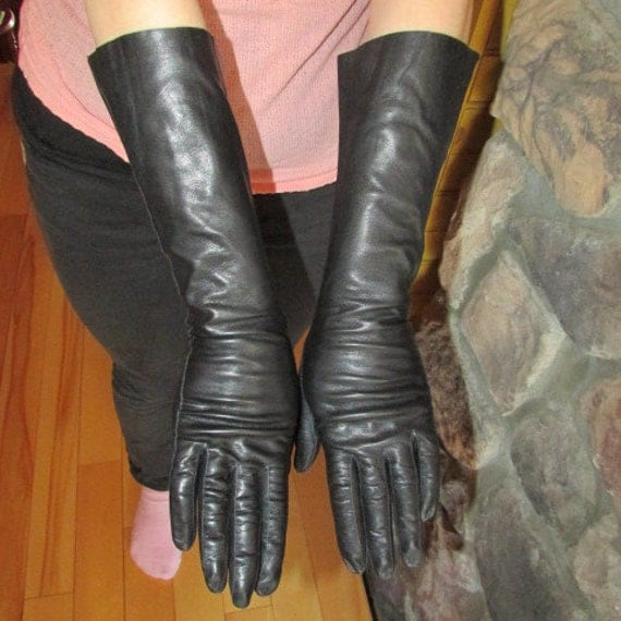 Vintage 1950s Leather Gloves Italian Kid by ...