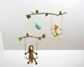Baby Mobile, Baby Mobiles, Dog Mobile, Horse Mobile, Pet Nursery Mobile, Dog Hanging Mobile, Puppy Decor, Pet Portrait, Horse Nursery