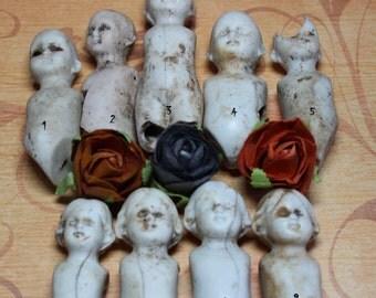 1 Antique Creepy Porcelain Doll