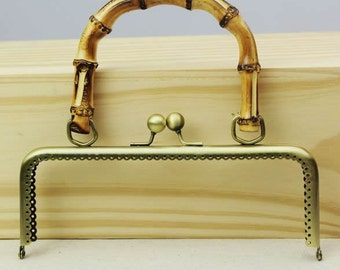 20cm(7.87inch) Bamboo handle sewing metal purse bag frame A506