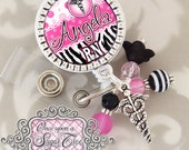 RN BADGE REEL, Personalized Id Badge Reel, Zebra Print, Rn Np, Pa, Nicu Nursing Name Id Badge Holder, Medical, Teacher, Office, Animal Print