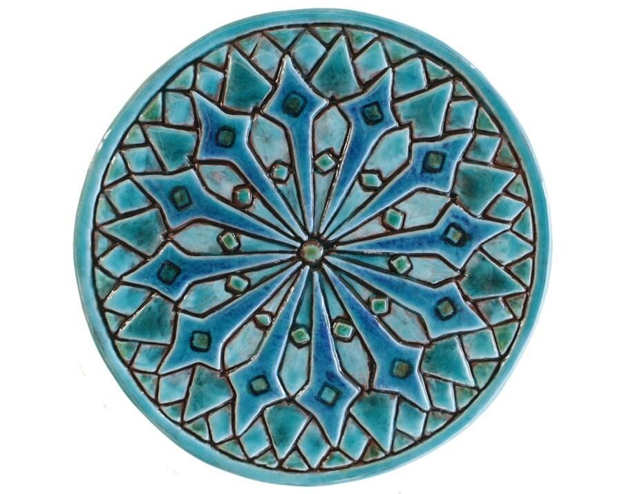 Moroccan Wall Hanging, Moroccan Tile Garden Art, Moroccan Wall Art,  Moroccan, Turquoise