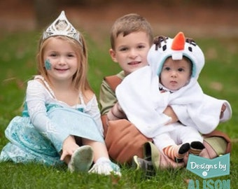 Frozen Olaf Inspired Snowman Infant Capelet
