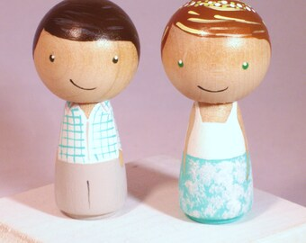 Custom Kokeshi Wedding Cake Toppers Kokeshi Doll Wedding Toppers Custom Cake Toppers