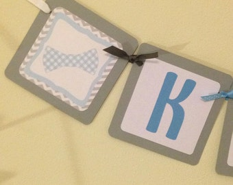 Bow Tie Name Banner
