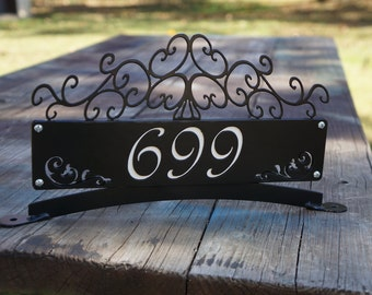 Mailbox Topper with Street Number