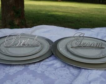 Bride & Groom Place Setting (Set)