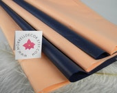 Tissue Paper | Peach & Deep Navy Blue Midnight Combo Pack 48 Sheets | DIY Navy and Peach Wedding Decor |  DIY Pom Pom Craft Supplies