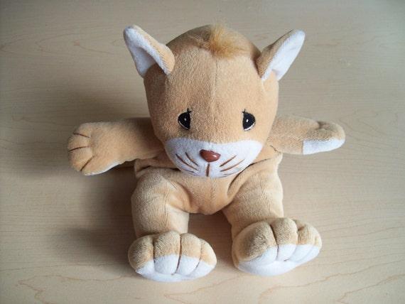 Items similar to velveteen big eyed kitty cat plush toy