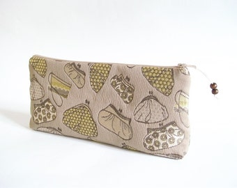 Holiday Party Clutch, Bridal Cosmetic Clutch, Evening Handbag, Women Cosmetic Wallet, Olive Clutch for Sister