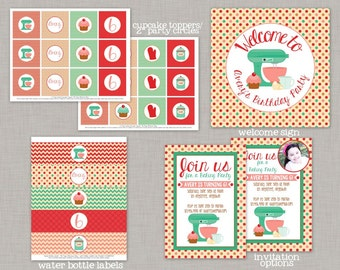 Baking Birthday Party, Baking Party Decorations, Cupcake Party, Baking Party, Printable