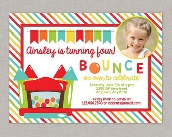 Bounce House Birthday Invitation, Bounce House Invitation, Bounce House Party, Printable