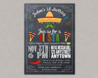Fiesta Invitation, Fiesta Birthday Invitation, Fiesta Birthday Party, Cinco de Mayo, Printable