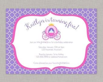 Princess Birthday Invitation, Princess Party, Princess Birthday