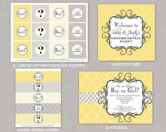 Gender Reveal Party, Gender Reveal Decorations, Gender Reveal, Printable
