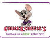 Printable Chuck E Cheese Invitation