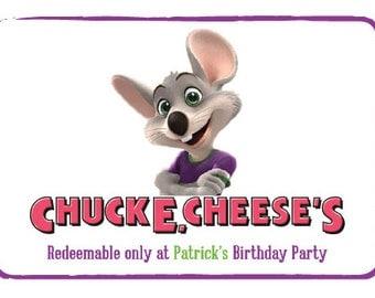 Printable Chuck E Cheese Invitation