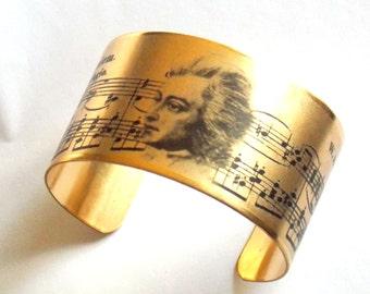 Mozart Piano Music Cuff