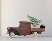 Vintage Folk Art Wooden Truck