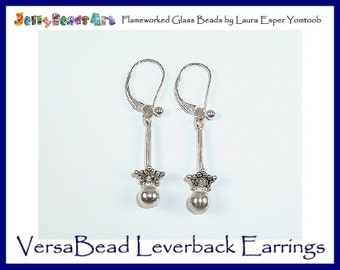VersaBead LEVERBACK EARRINGS - sterling silver bead holder